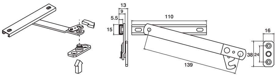 Releasable Restrictor Dimensions