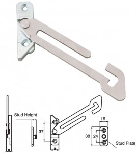 Concealed non-locking hold open restrictor