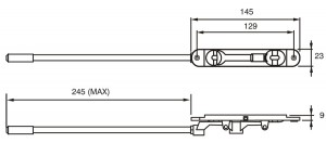 Flush Bolt Dimensions
