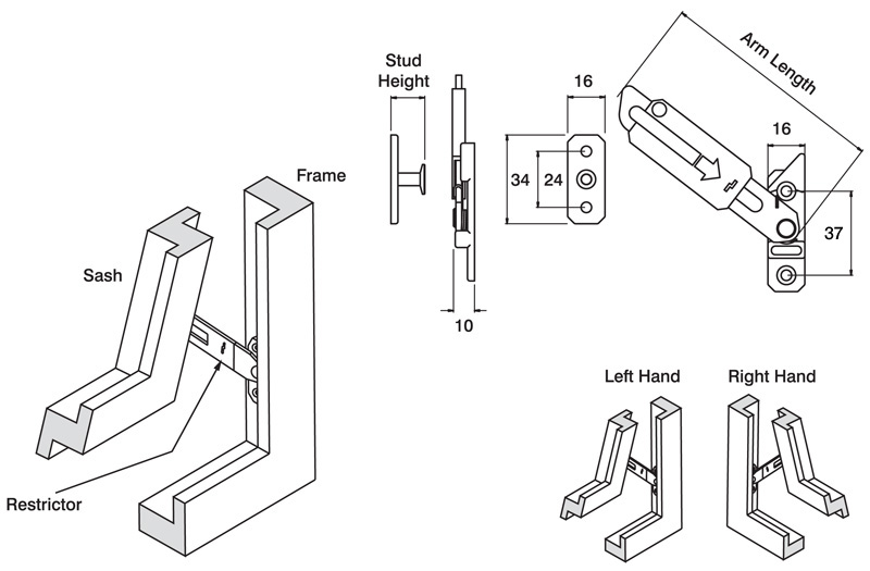 Res-lok Concealed Restrictor Dimensions